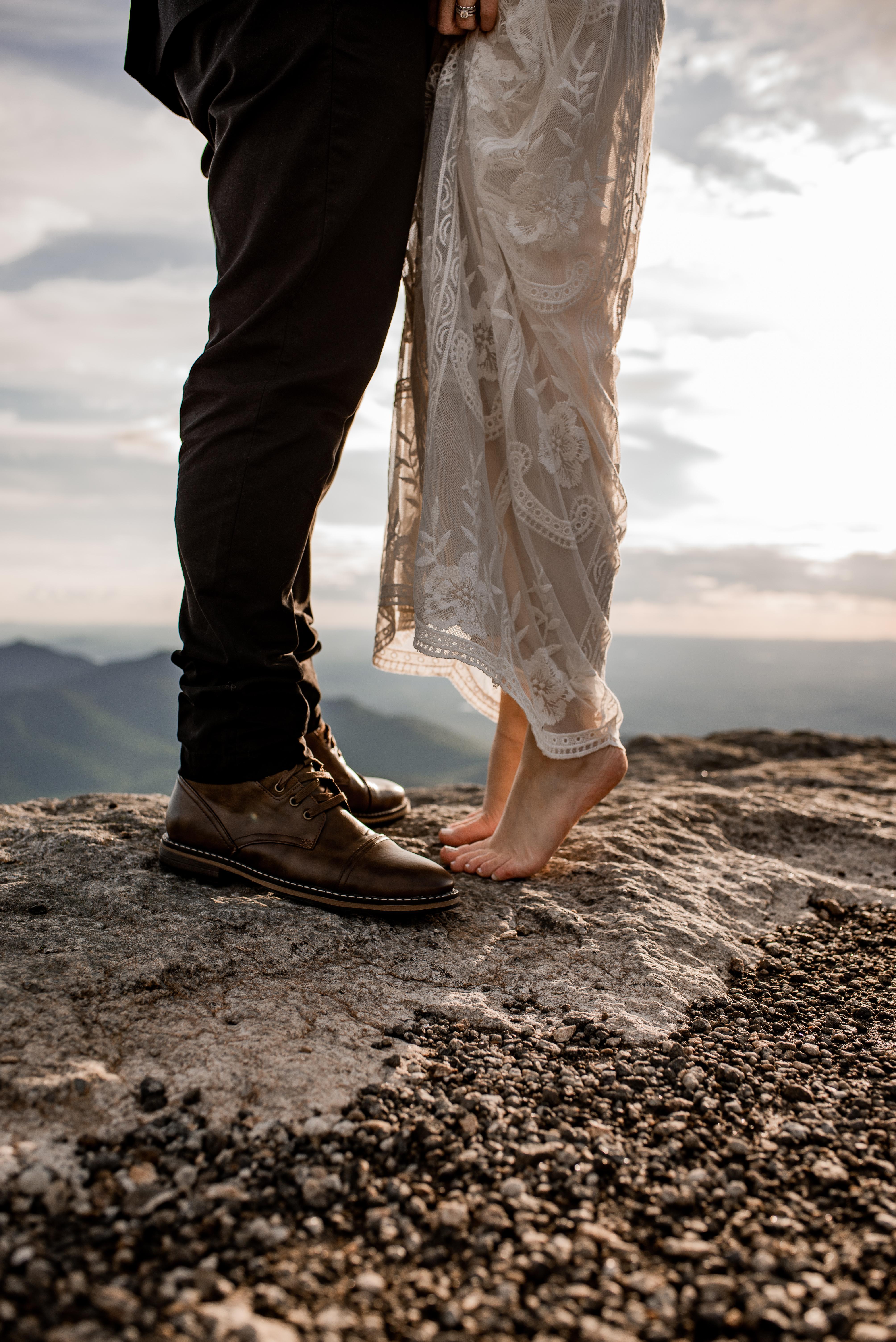 Adirondacks elopement photos on Whiteface Mountain